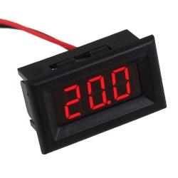 Panel LED Voltímetro para Chasis Rango 0-30 VDC