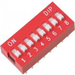 DIP Switch Interruptor de 8 Posiciones Individuales On/Off