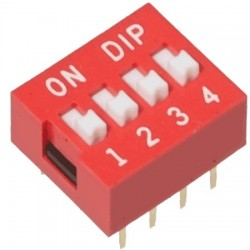 DIP Switch Interruptor de 4 Posiciones Individuales On/Off