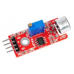 Sensor de Sonido Micrófono con Salida Análoga Digital 0/1 Modelo KY037