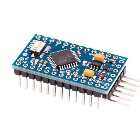Arduino Pro Mini 3.3V Incluye 10 LEDs 5mm y 10 Resistencias