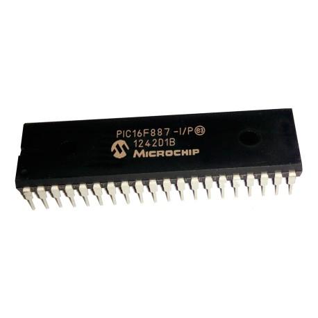 Microcontrolador 8bits Familia 16F PIC16F887 40 Pines