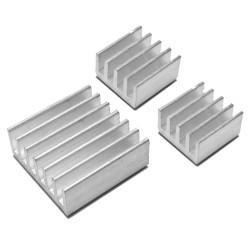 Pack 3 Disipadores de Aluminio con Adhesivo para Raspberry Pi