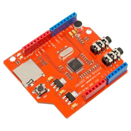 Shield Arduino VS1053B Grabador y Reproductor de Audio MP3