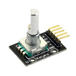 Módulo Encoder Rotatorio Potenciometro con Pulsador Central