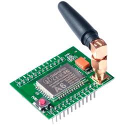 Módulo GSM GPRS Modelo A6 Serial AT Cuadribanda con Antena SMA