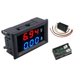 Voltímetro 100 V y Amperímetro 10A Digital para Panel o Chasis