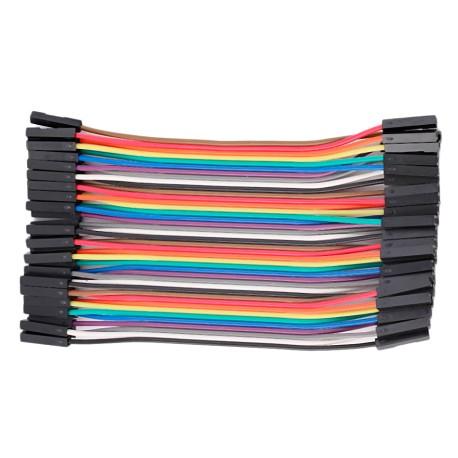 Cable Conexión Dupont 40 Unidades Largo 10cm Hembra Hembra